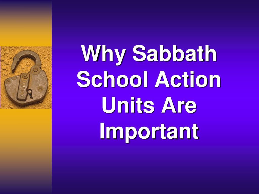 Why Sabbath