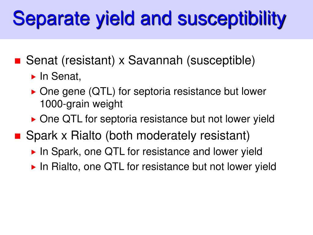 Separate yield and susceptibility