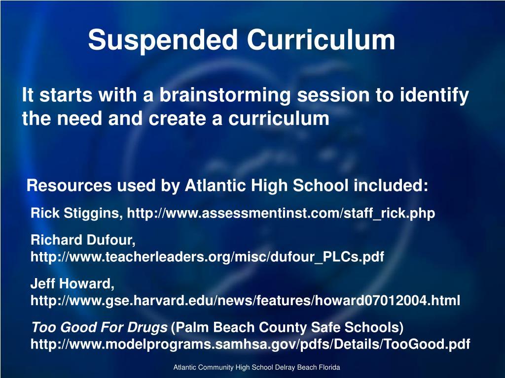 Suspended Curriculum