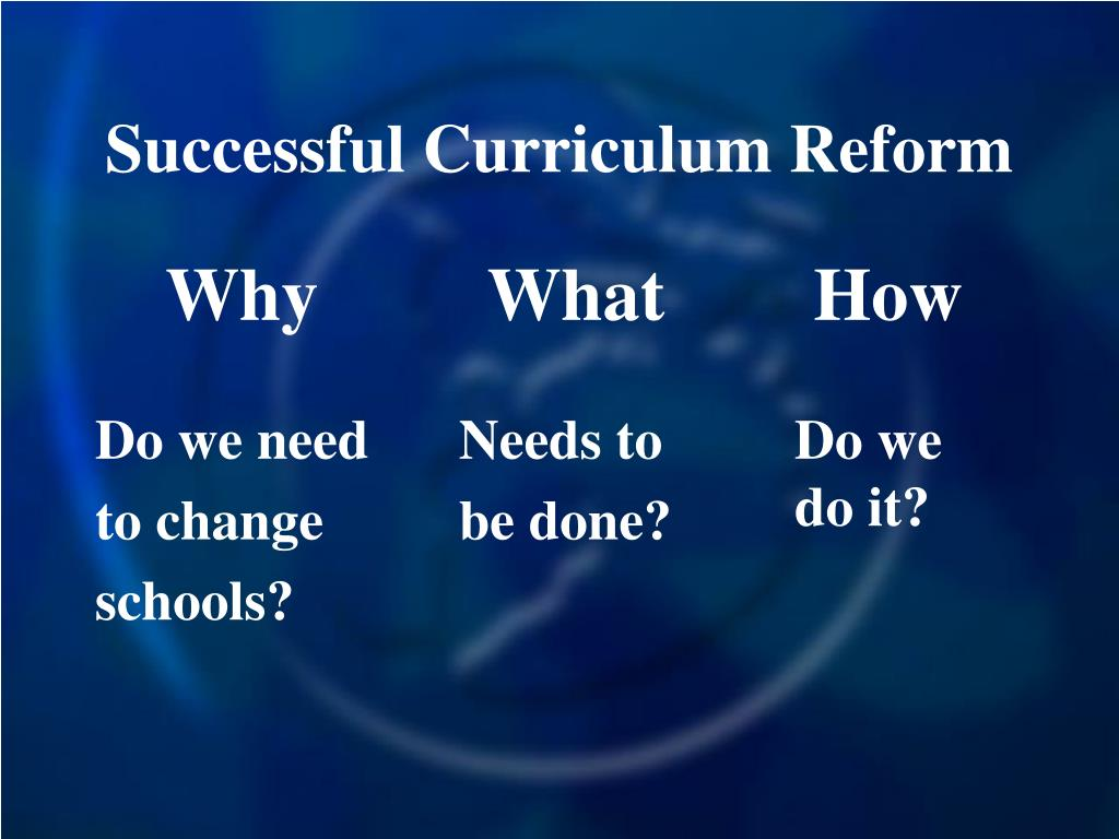 Successful Curriculum Reform