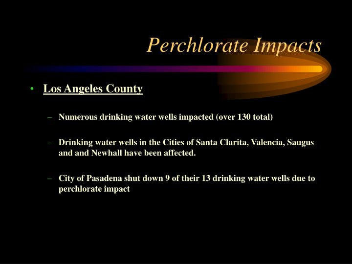 Perchlorate Impacts