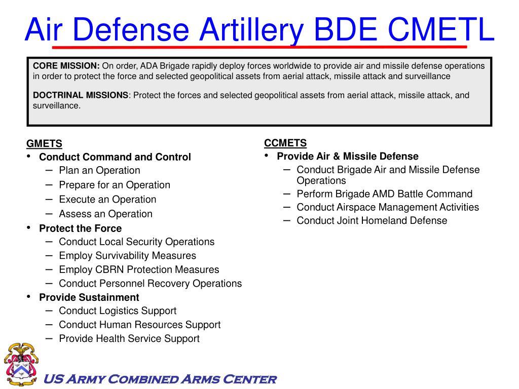 Air Defense Artillery BDE CMETL