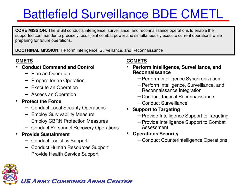 Battlefield Surveillance BDE CMETL