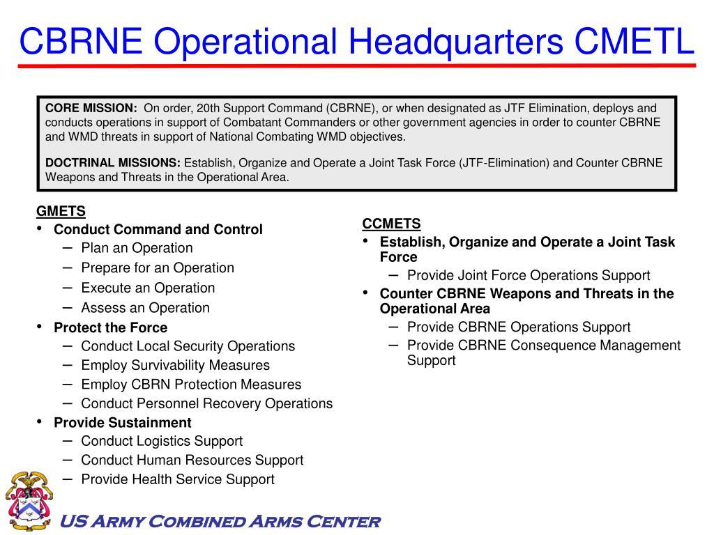 CBRNE Operational Headquarters CMETL