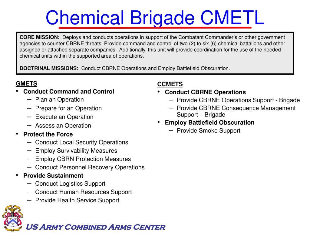 Chemical Brigade CMETL
