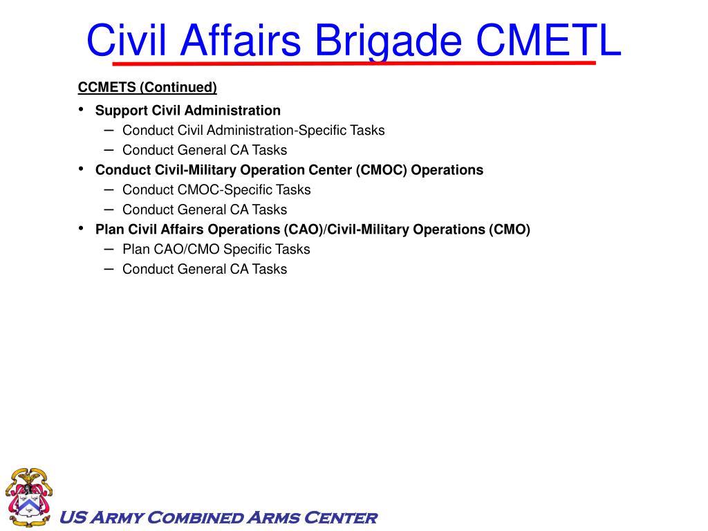 Civil Affairs Brigade CMETL