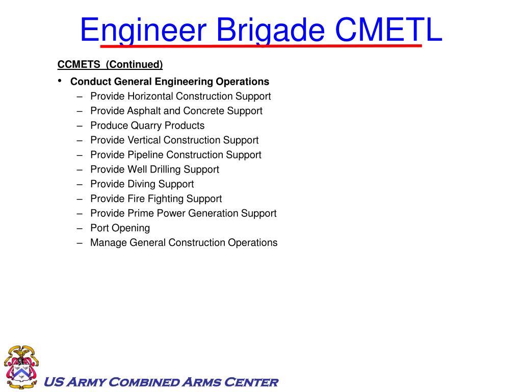 Engineer Brigade CMETL