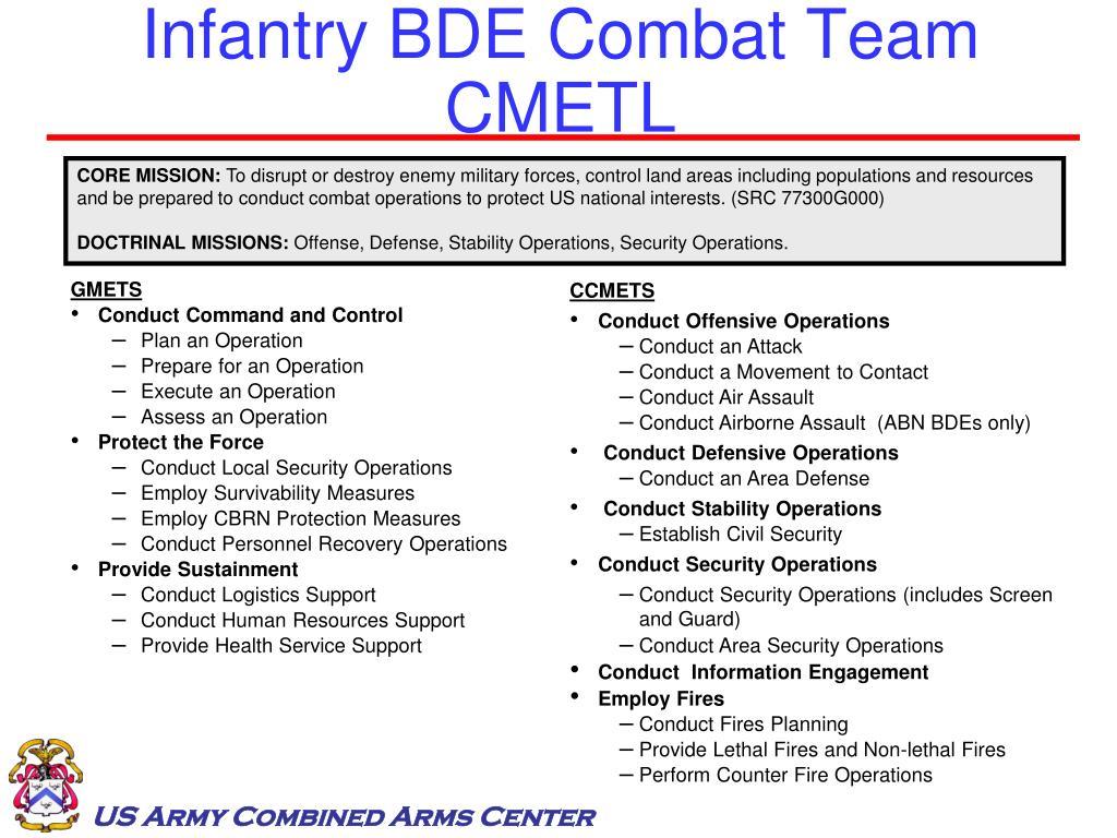 Infantry BDE Combat Team CMETL