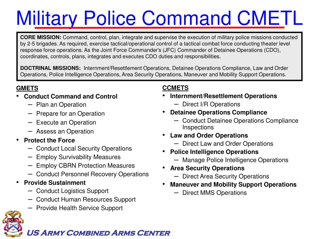 Military Police Command CMETL