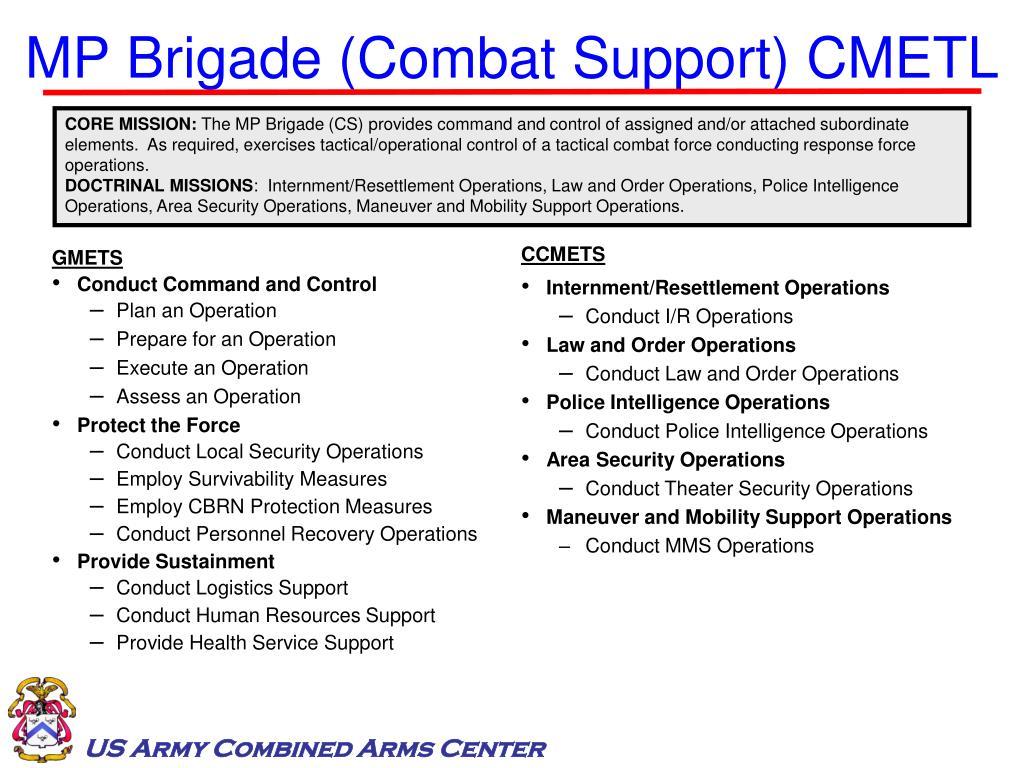 MP Brigade (Combat Support) CMETL