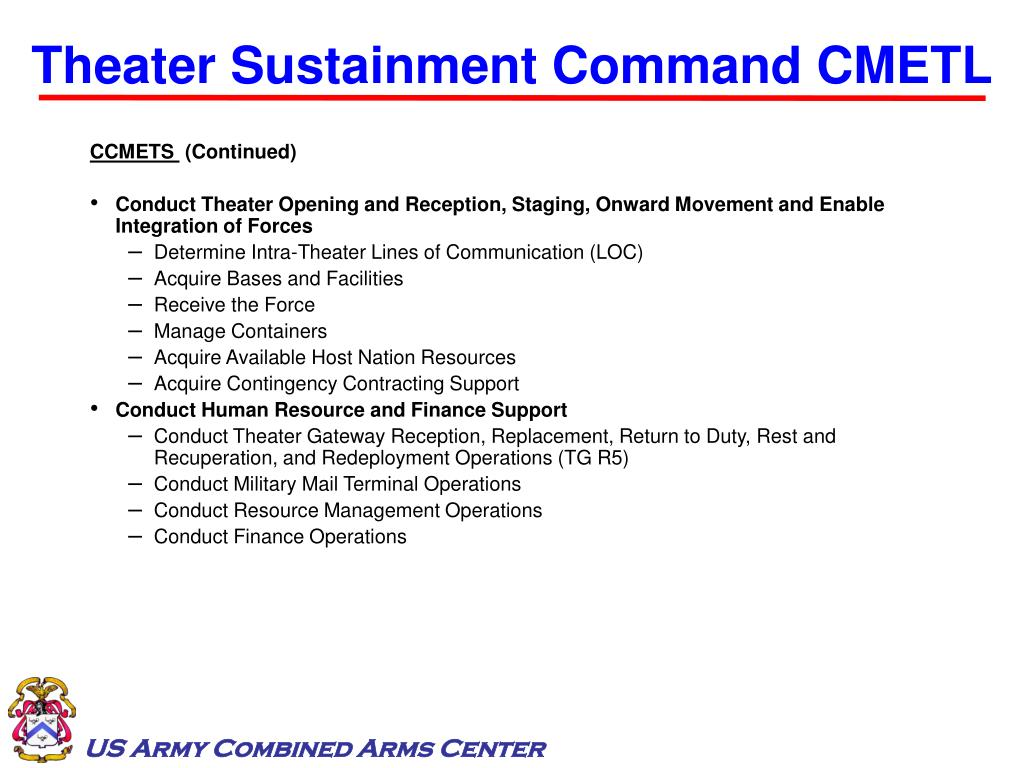 Theater Sustainment Command CMETL