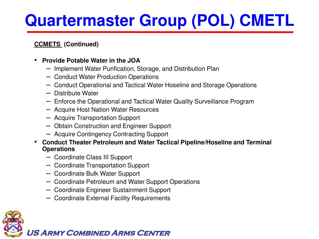 Quartermaster Group (POL) CMETL