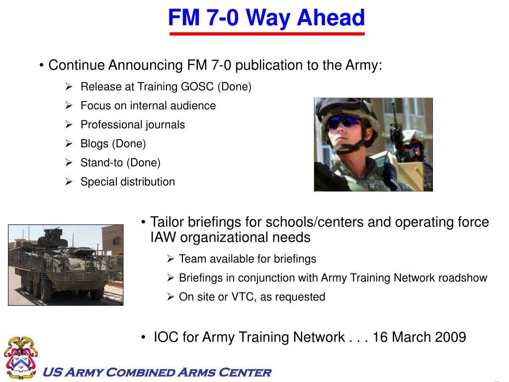FM 7-0 Way Ahead