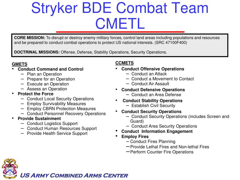 Stryker BDE Combat Team CMETL