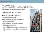 borkedalen skole vurderingsverkt y eksempel p sjekkliste