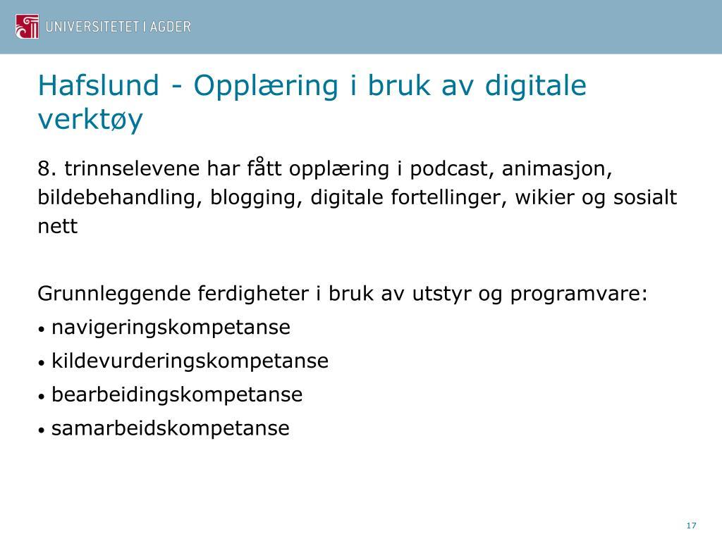 Hafslund - Opplæring i bruk av digitale verktøy