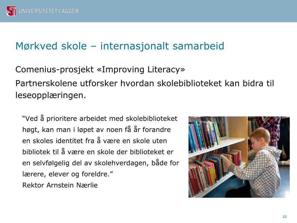 Mørkved skole – internasjonalt samarbeid