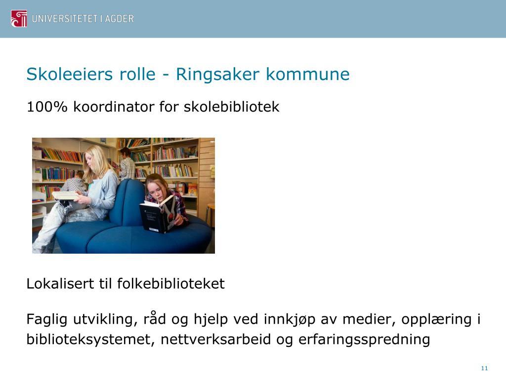 Skoleeiers rolle - Ringsaker kommune