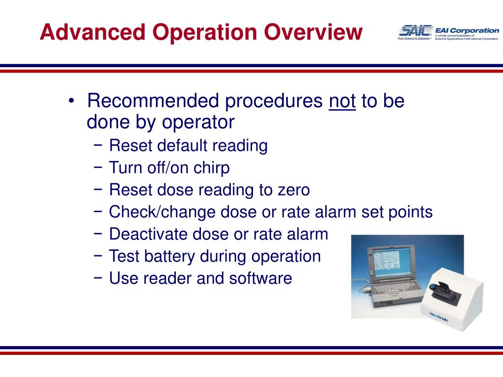 Advanced Operation Overview