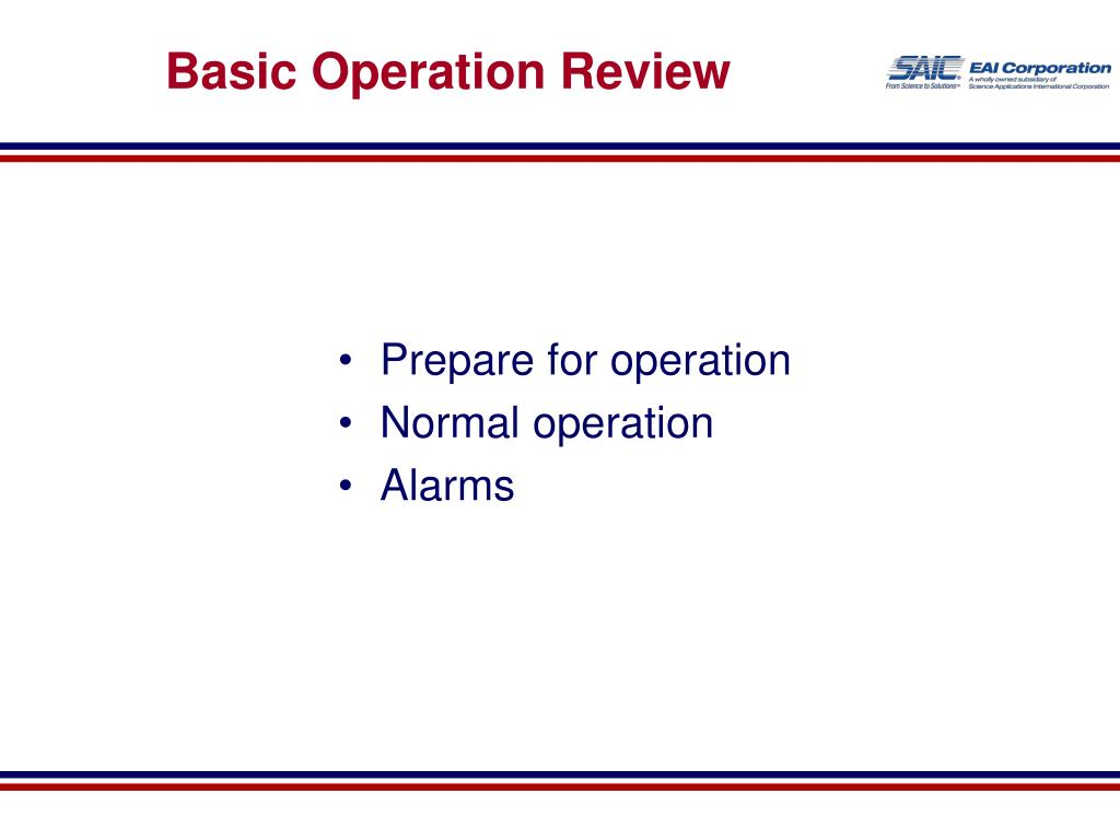 Basic Operation Review