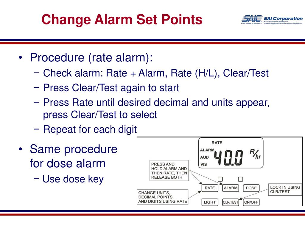Change Alarm Set Points