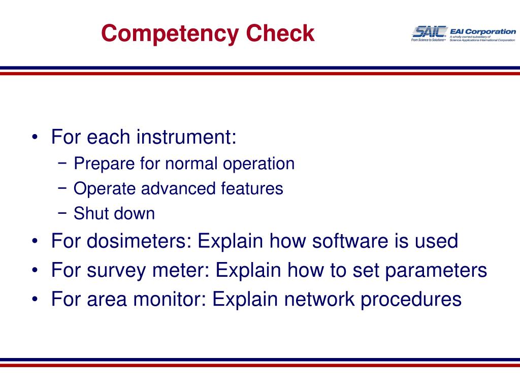 Competency Check