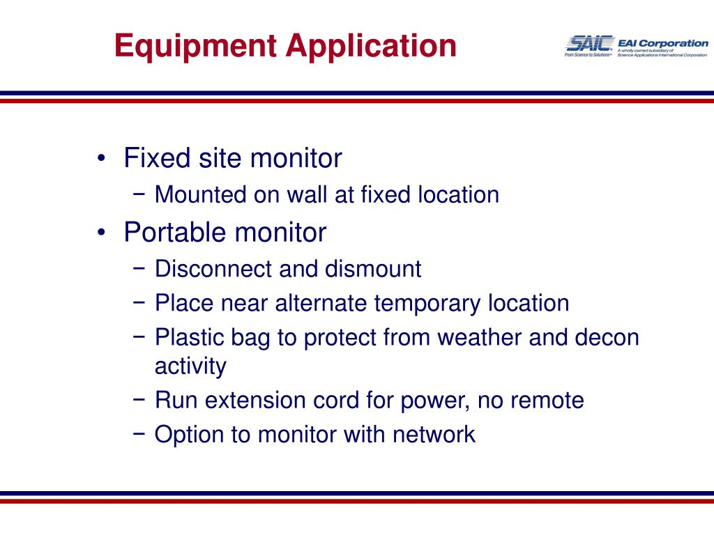 Equipment Application