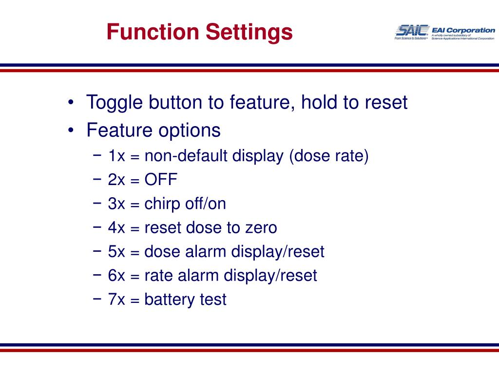 Function Settings