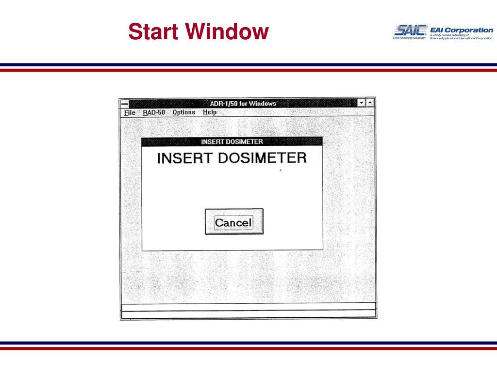 Start Window