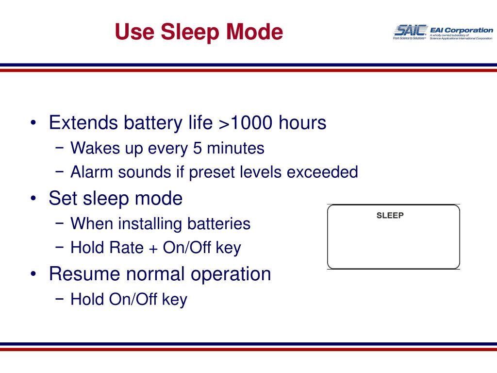 Use Sleep Mode