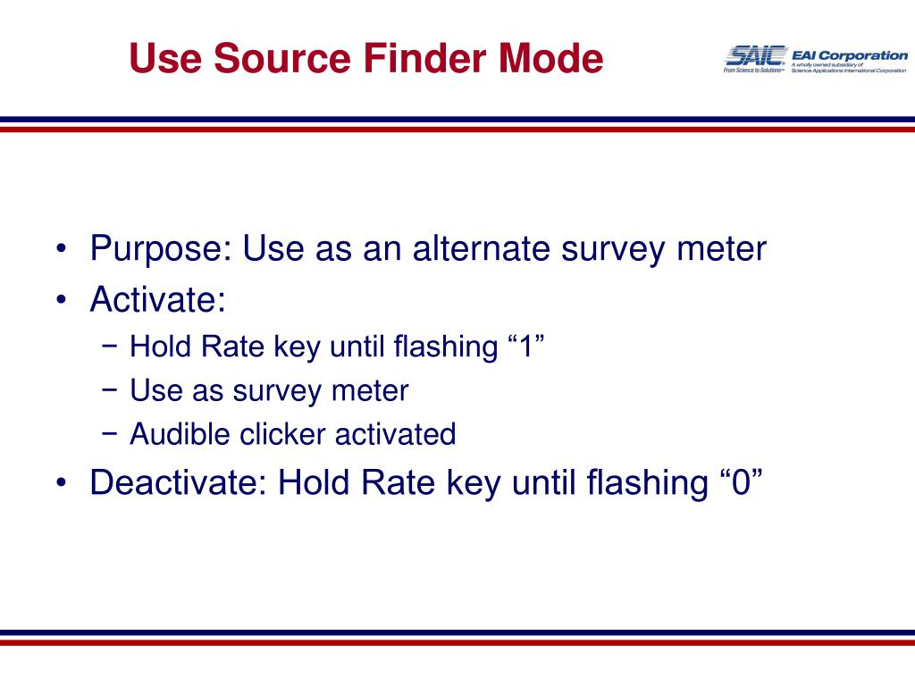 Use Source Finder Mode