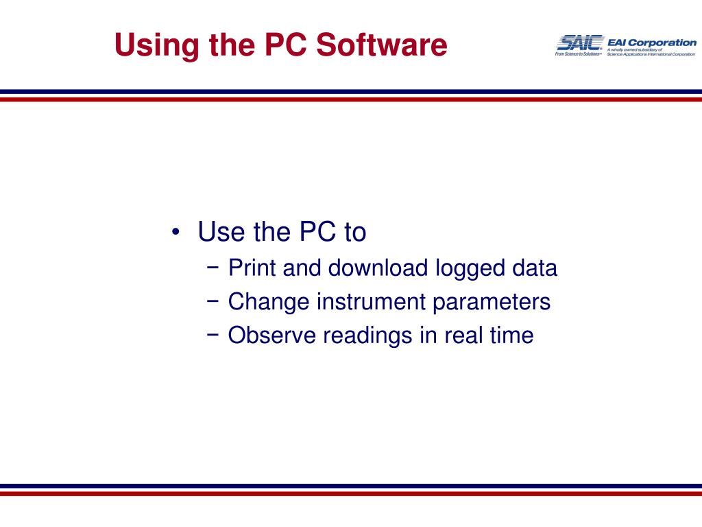 Using the PC Software