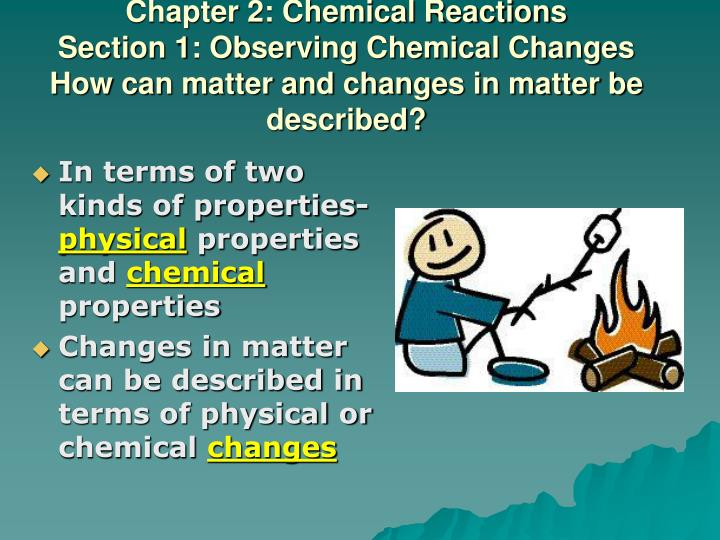 observation of chemical change labpaq The observation of chemical reactions essay example department of chemistry  observations of chemical changes submitted by labpaq kits about labpaq.