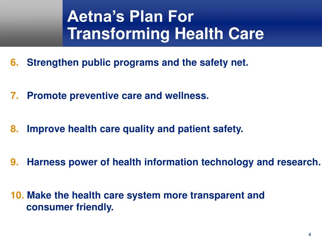 Aetna's Plan For
