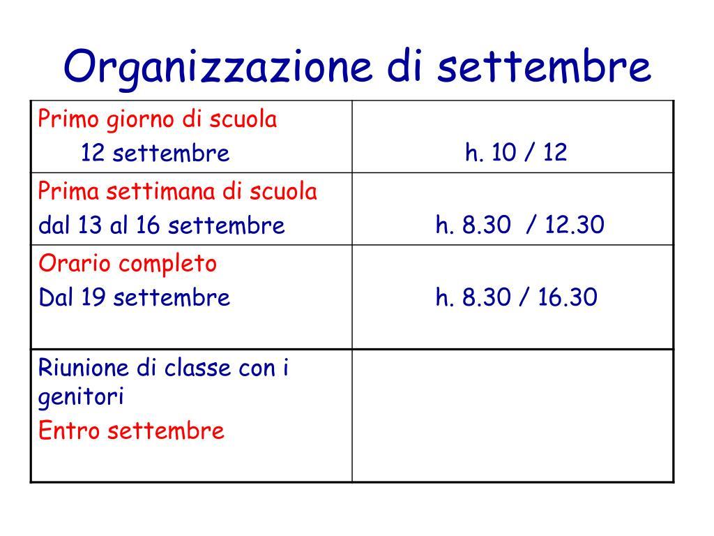 Organizzazione di settembre
