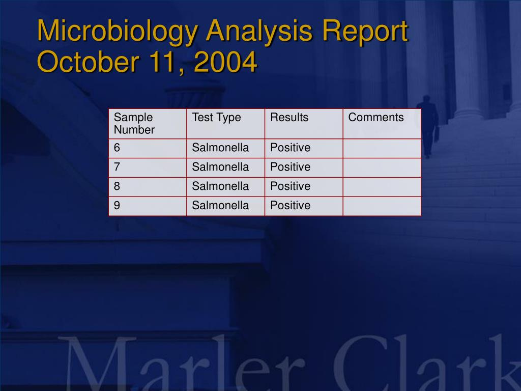 Microbiology Analysis Report