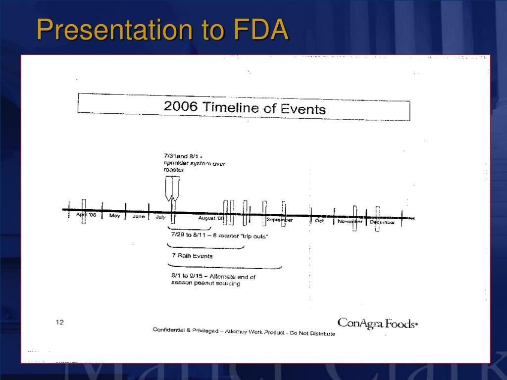 Presentation to FDA