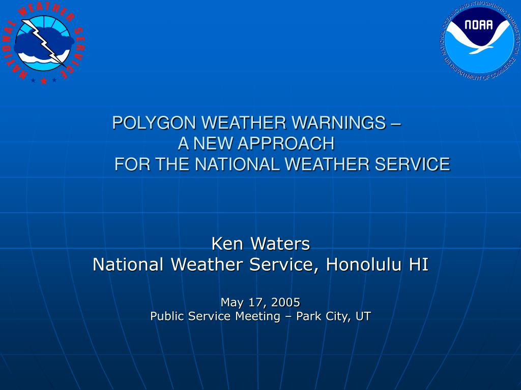 POLYGON WEATHER WARNINGS –