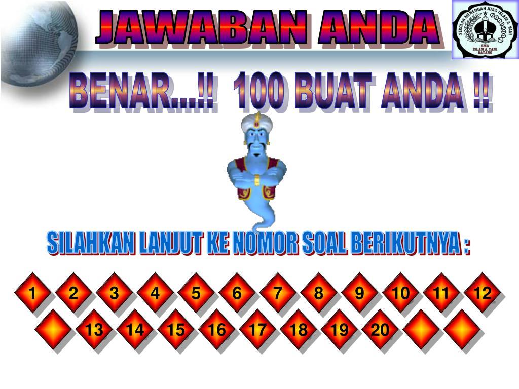 JAWABAN ANDA