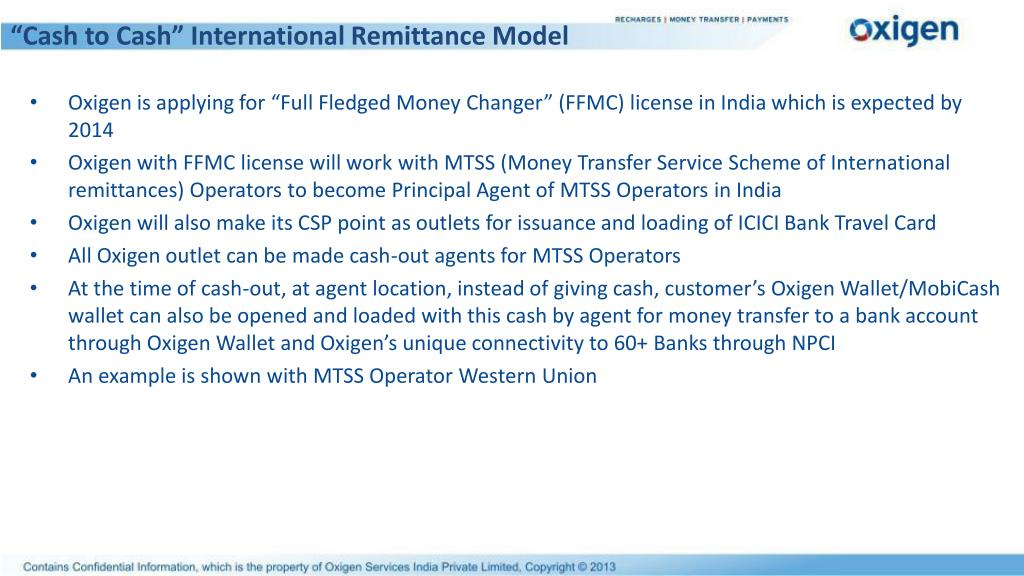 """Cash to Cash"" International Remittance Model"