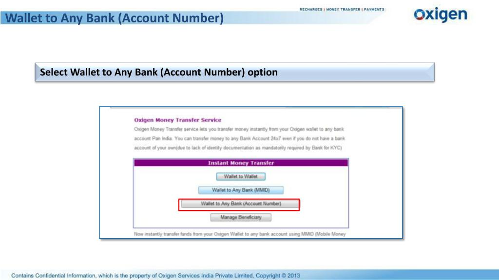 Wallet to Any Bank (Account Number)