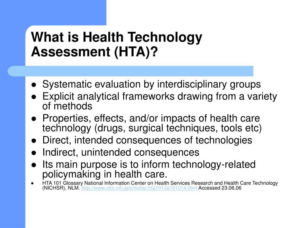 hta technology health assessment zealand australia activities care ppt powerpoint presentation evaluation national