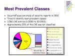 most prevalent classes