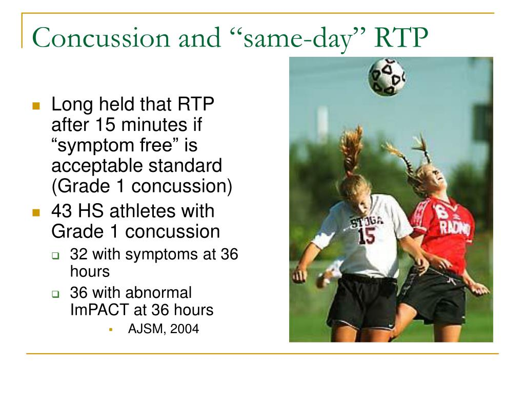 "Concussion and ""same-day"" RTP"