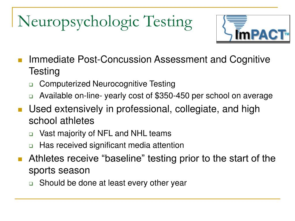 Neuropsychologic Testing