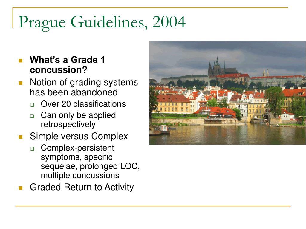 Prague Guidelines, 2004