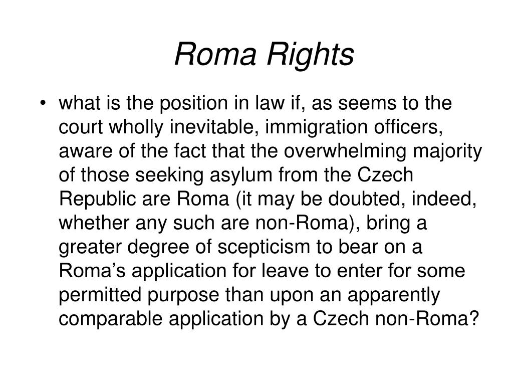 Roma Rights