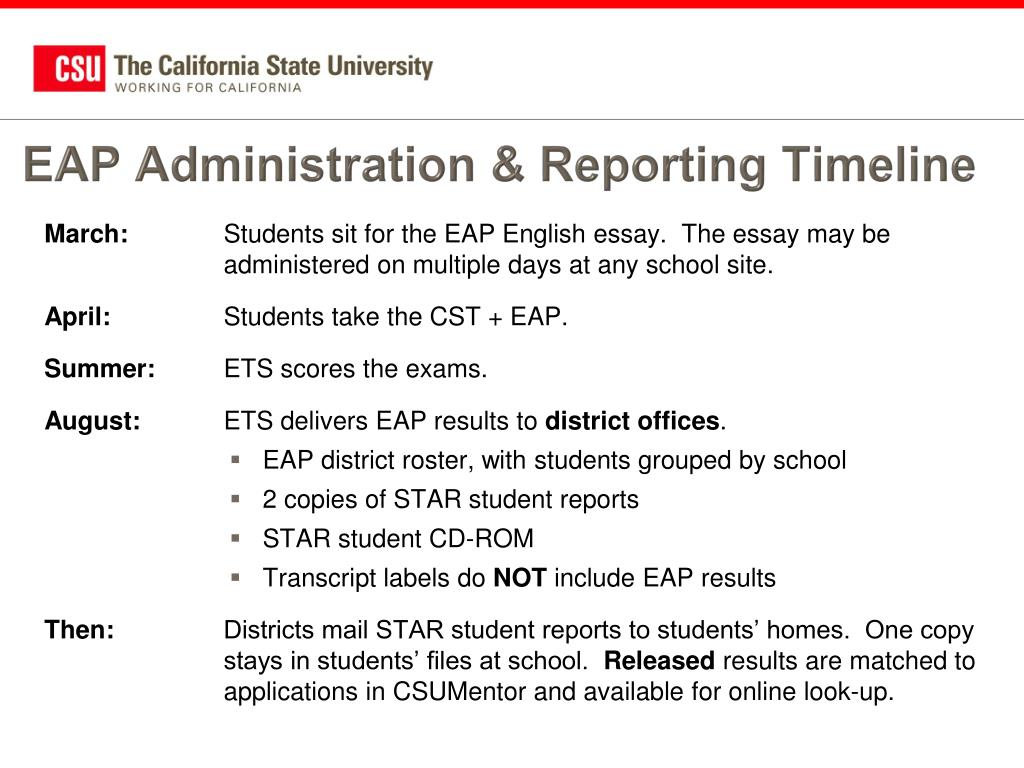 EAP Administration & Reporting Timeline