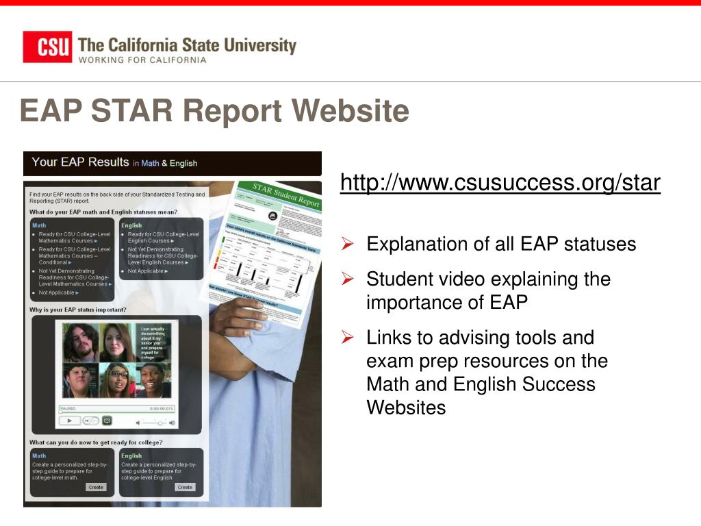 EAP STAR Report Website
