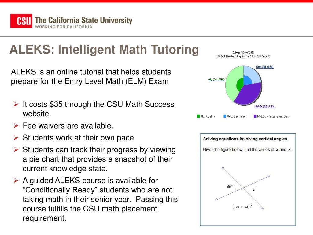 ALEKS: Intelligent Math Tutoring